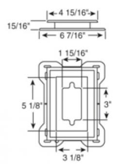 мини-крепление, предварительно разрезанное (под розетки и выключатели), 030403***, цвет любой